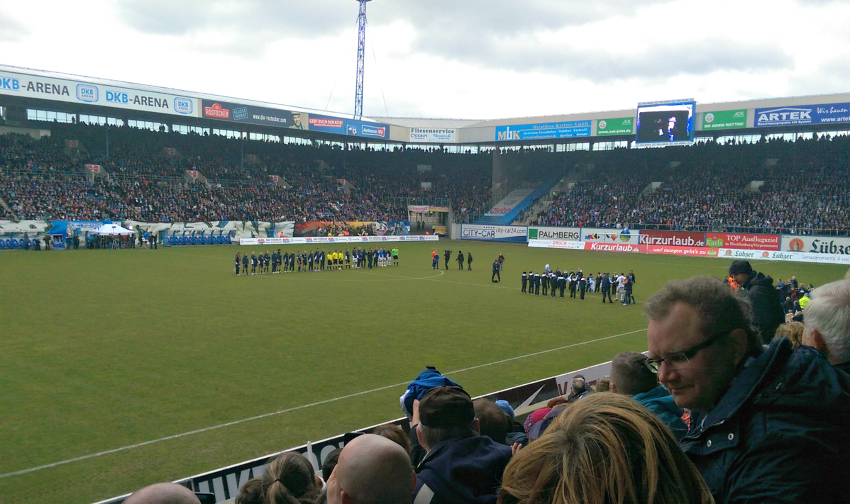 FC hansa rostock, dkb arena, charity football match, Amy's first football match