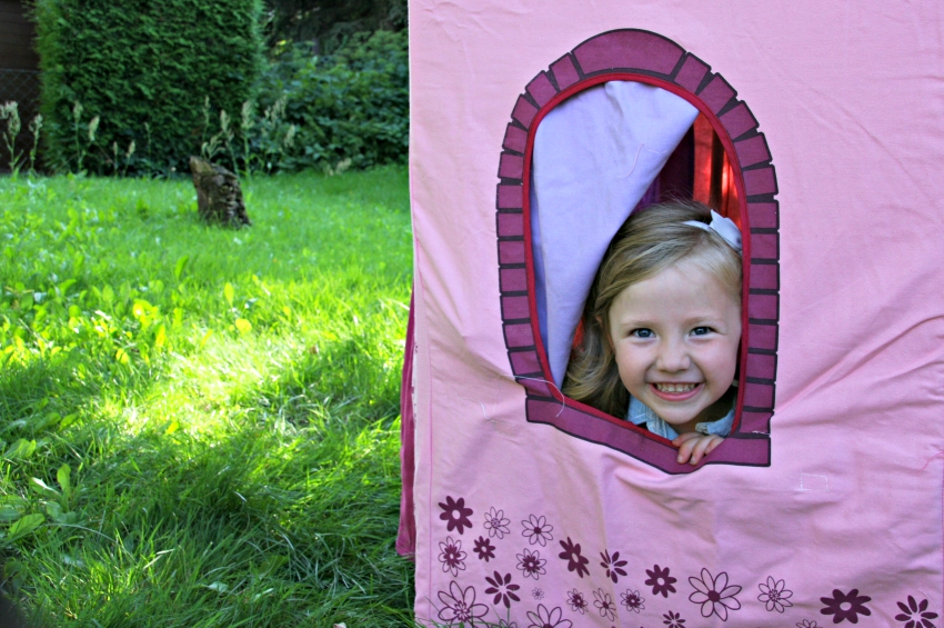 princess castle tent from big game hunters, outdoor play tent for children, princess tent, fairy castle tent
