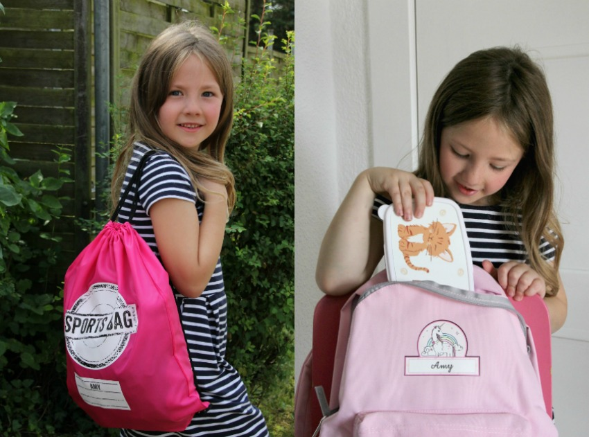 Amy's personalised back to school bundle from Personalised Gifts Shop