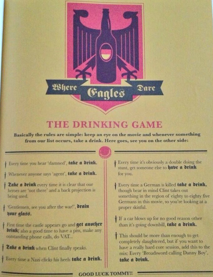 eagles dare drinking game