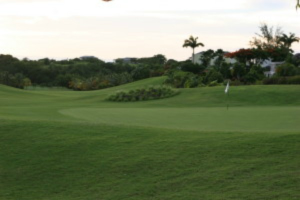 Late afternoon golf on Barbados
