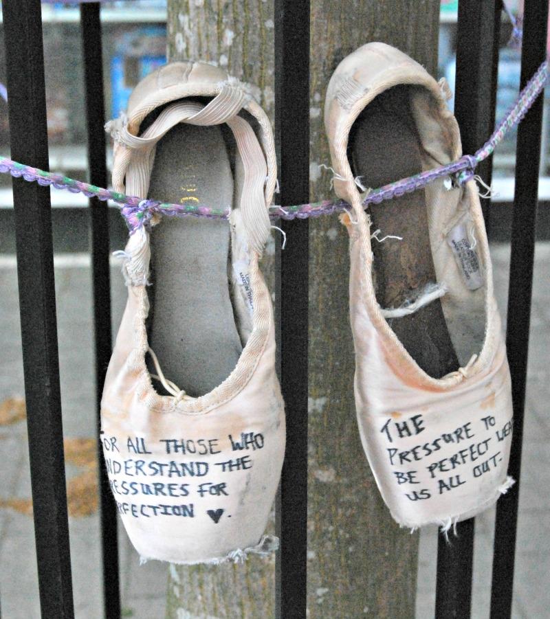 Ballet Shoe Message