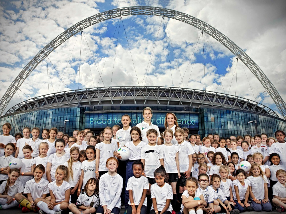 On Monday 8th June over 100 girls descended on Wembley Stadium connected by EE as The Football Association and energy firm SSE announced a new four year title sponsorship deal for the Women's FA Cup. The competition will now be called The SSE Women's FA Cup.'