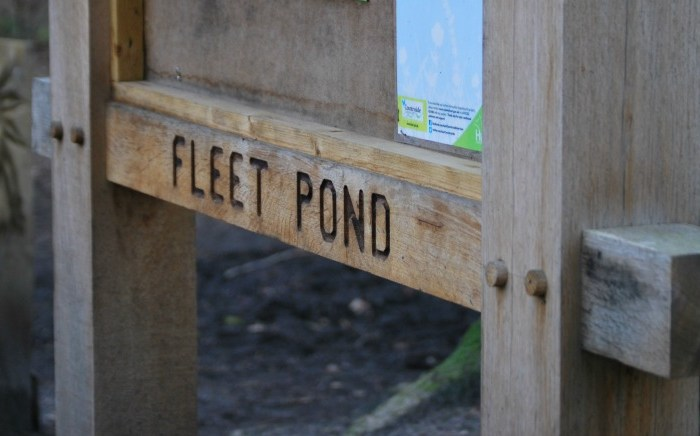 Fleet Pond Sign