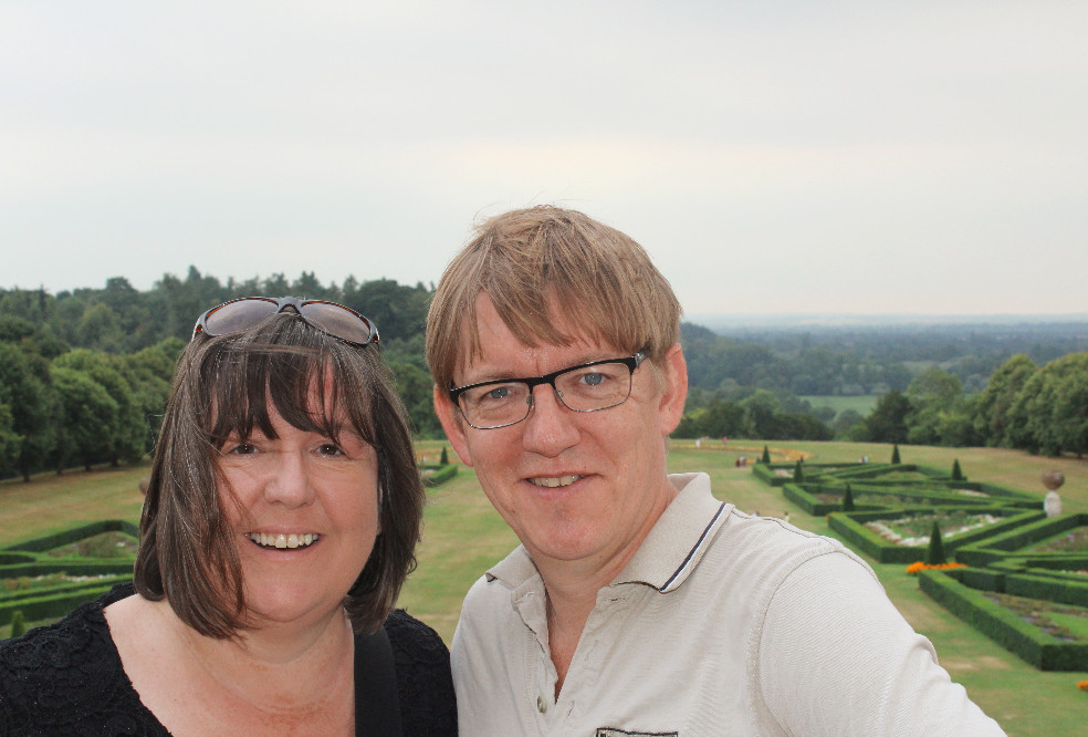 Mummy Barrow and Bruce at Cliveden