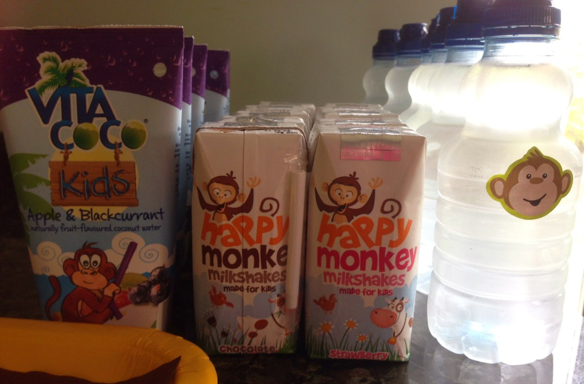 monkey drinks