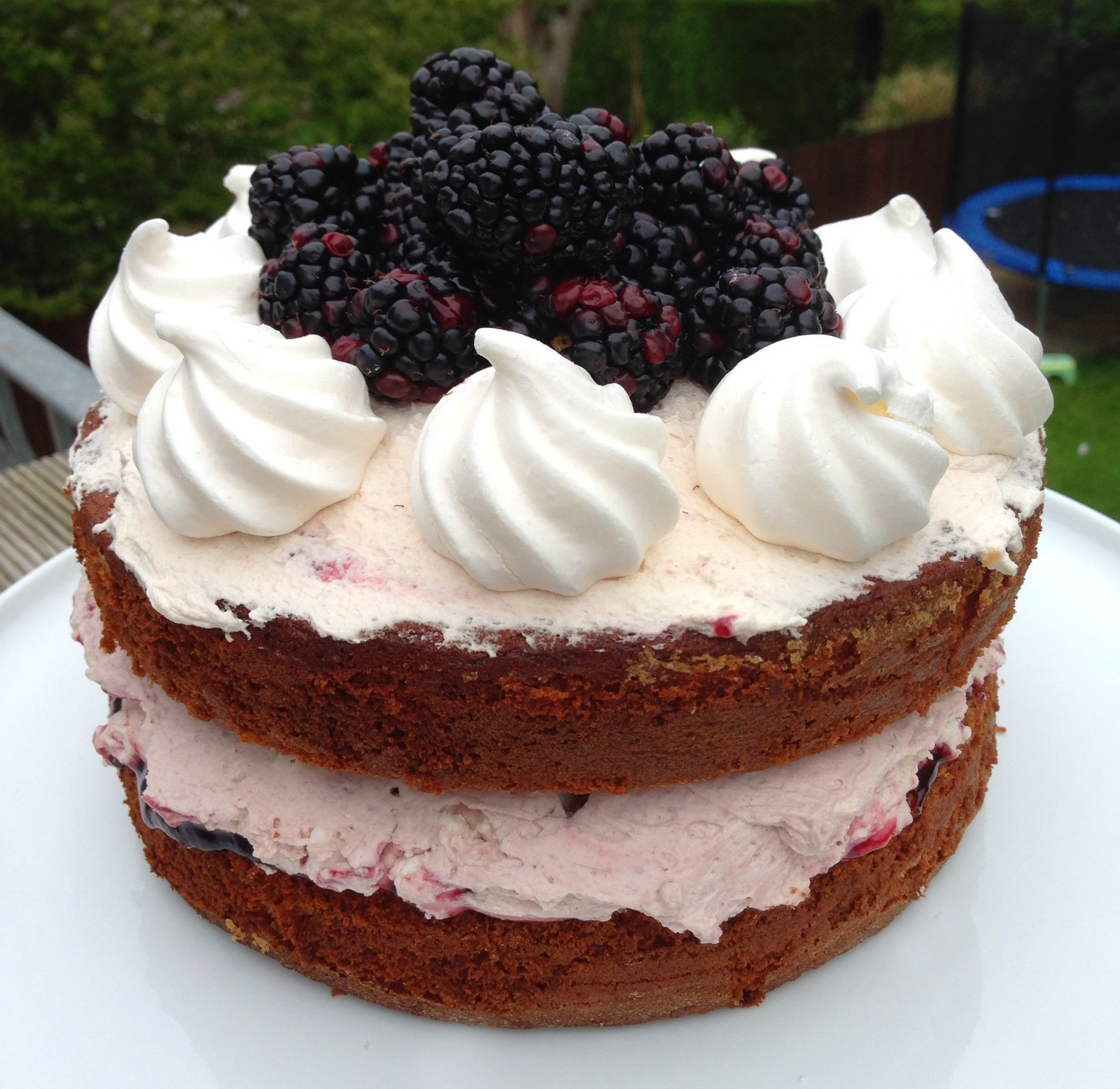 Blackberry Eton Mess Cake