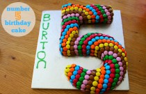 Burton's 5th Birthday : Number 5 Cake and a Toy Story Party