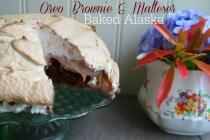 Oreo Brownie & Malteser Baked Alaska (#GreatBloggersBakeOff2104 #Week4 – Desserts)