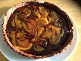 chocolate & salted caramel tart