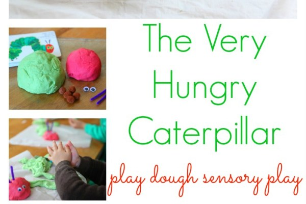 The Very Hungry Caterpillar Play Dough Sensory Play