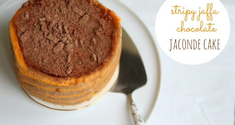Stripy Jaffa Chocolate Jaconde Cake (#GreatBloggersBakeOff #Week 9)