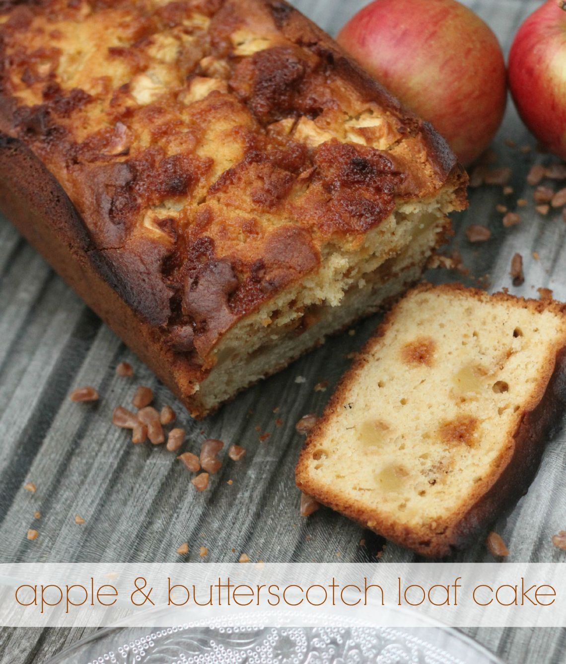 apple & butterscotch loaf cake
