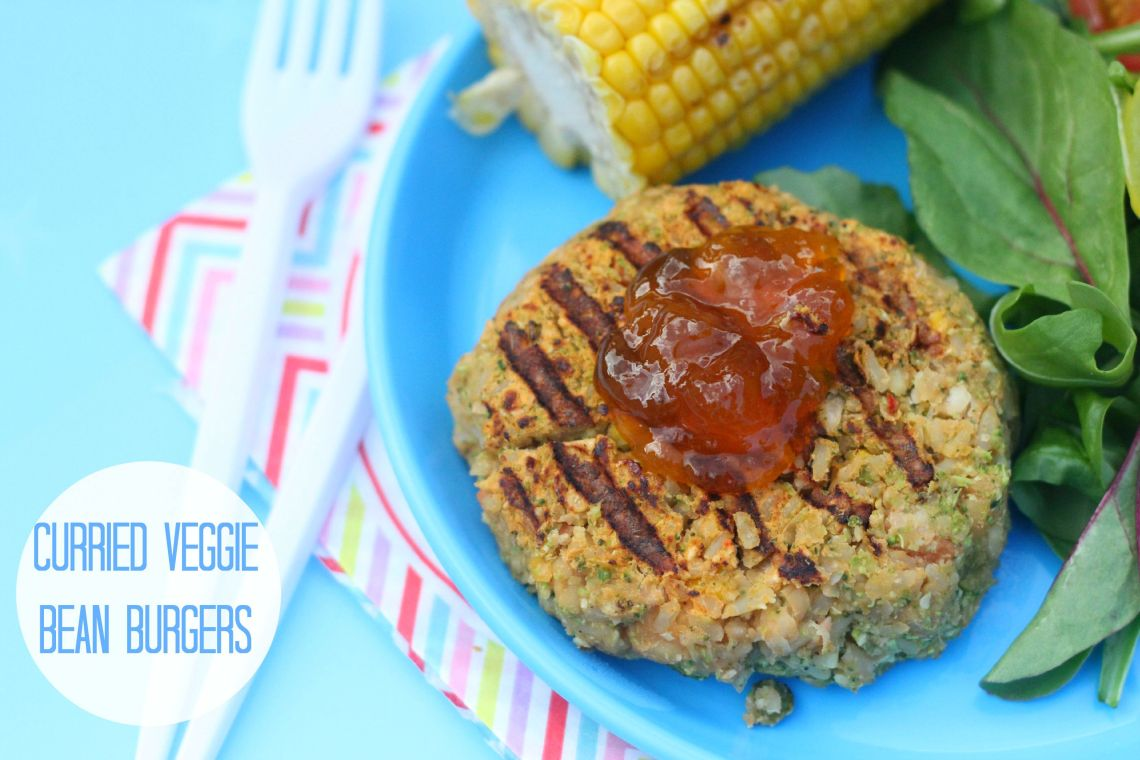 curried veggie bean burgers