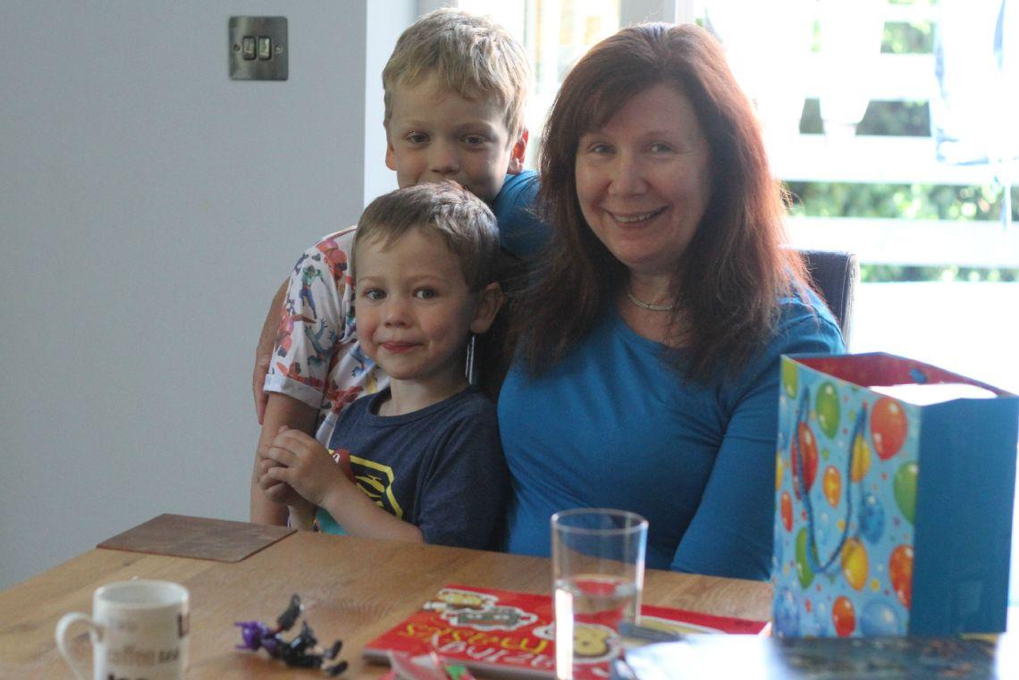 mum and boys burtons 6th birthday