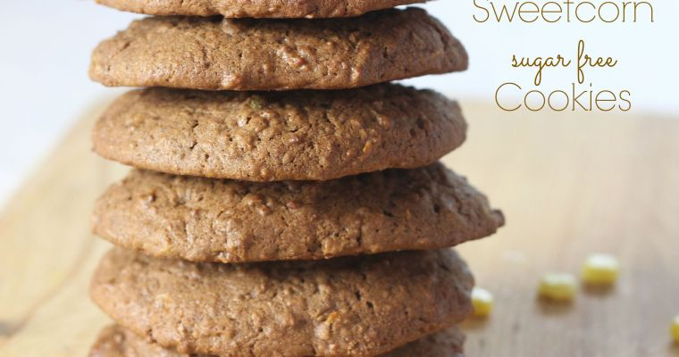 Chocolate, Coconut & Sweetcorn Low Sugar Cookies