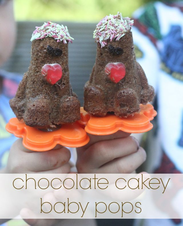 chocolate cake baby pops