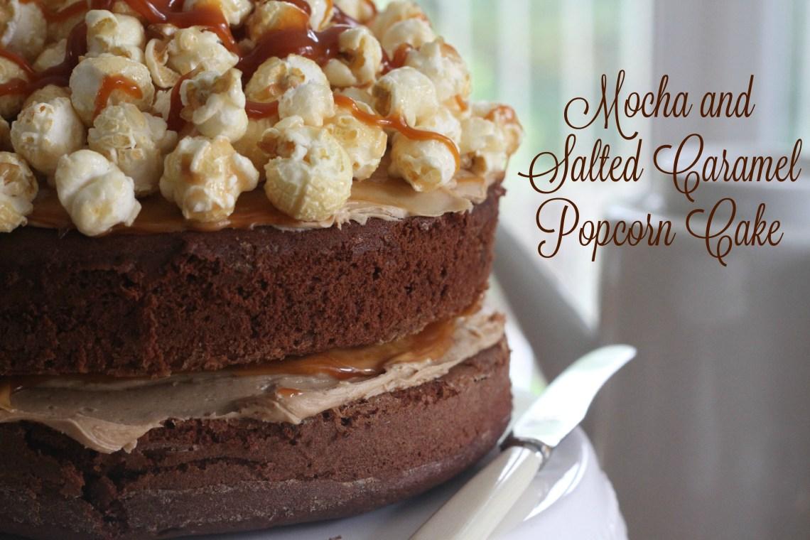 Mocha and Salted Caramel Popcorn Cake