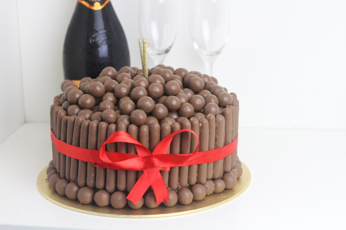 Malteser & Chocolate Finger Celebration Cake