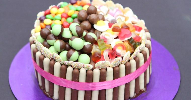 Pick 'n' Mix Chocolate Fingers Cake