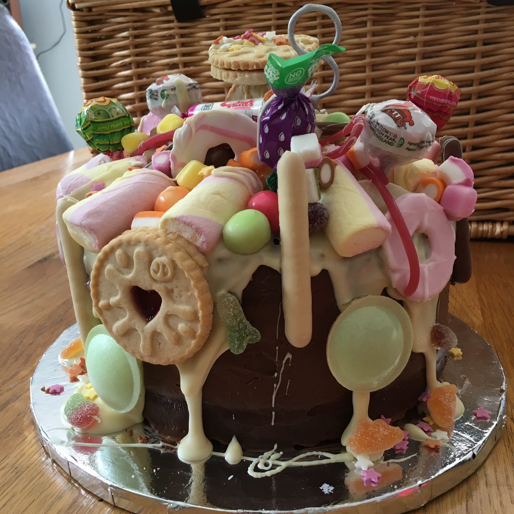 Willy Wonka's Sweetie Shop Topped Chocolate Cake