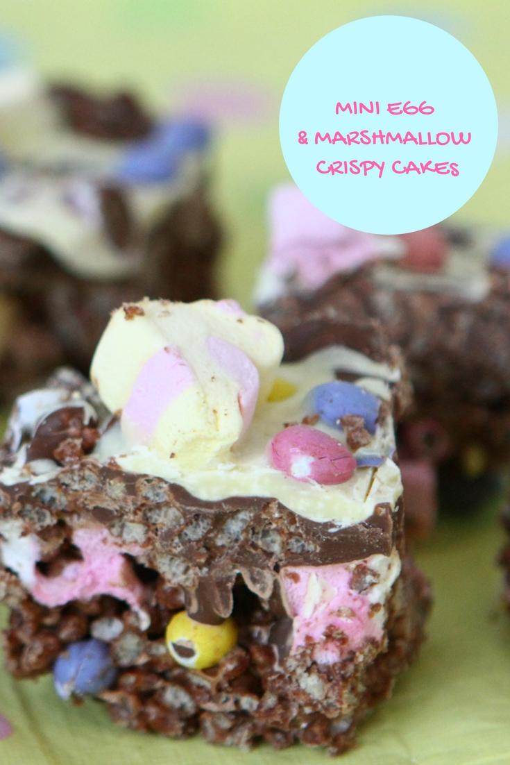 Mini Egg & Marshmallow Crispy Cakes