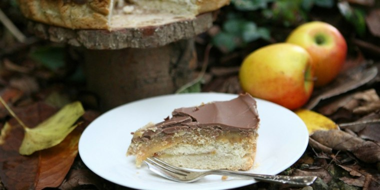 Toffee Apple Millionaires Shortbread #GBBO #GBBOBloggers2017