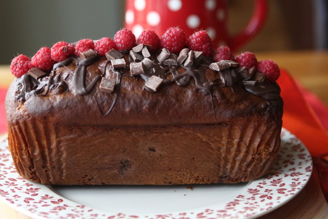 Raspberry and Chocolate Chip Banana Bread
