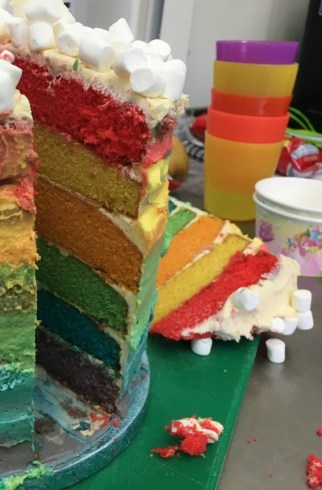 Gluten and Dairy Free Rainbow Cake