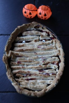 Cherry and Chocolate Mummy Pie #GBBO #PastryWeek