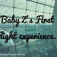 Baby Z's First Flight experience...