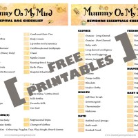 Hospital Bag and Newborn Essentials Checklists - Free Printables...