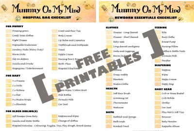 Checklists free printables mummyonmymind