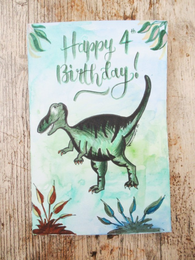 dinosaur birthday card mummyonmymind