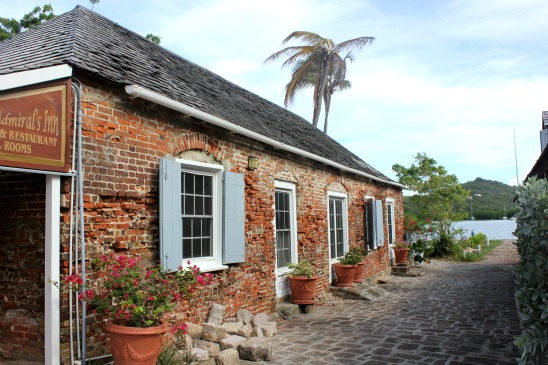 One of the old buildings in Nelson's Dockyard on Antigua
