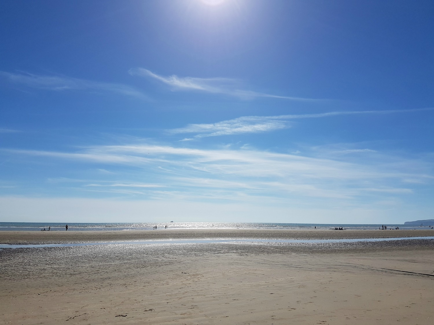 A view of the beach at Camber Sands in East Sussex - spending a weekend in East Sussex with my daughter before the start of school, to explore the history and coastline