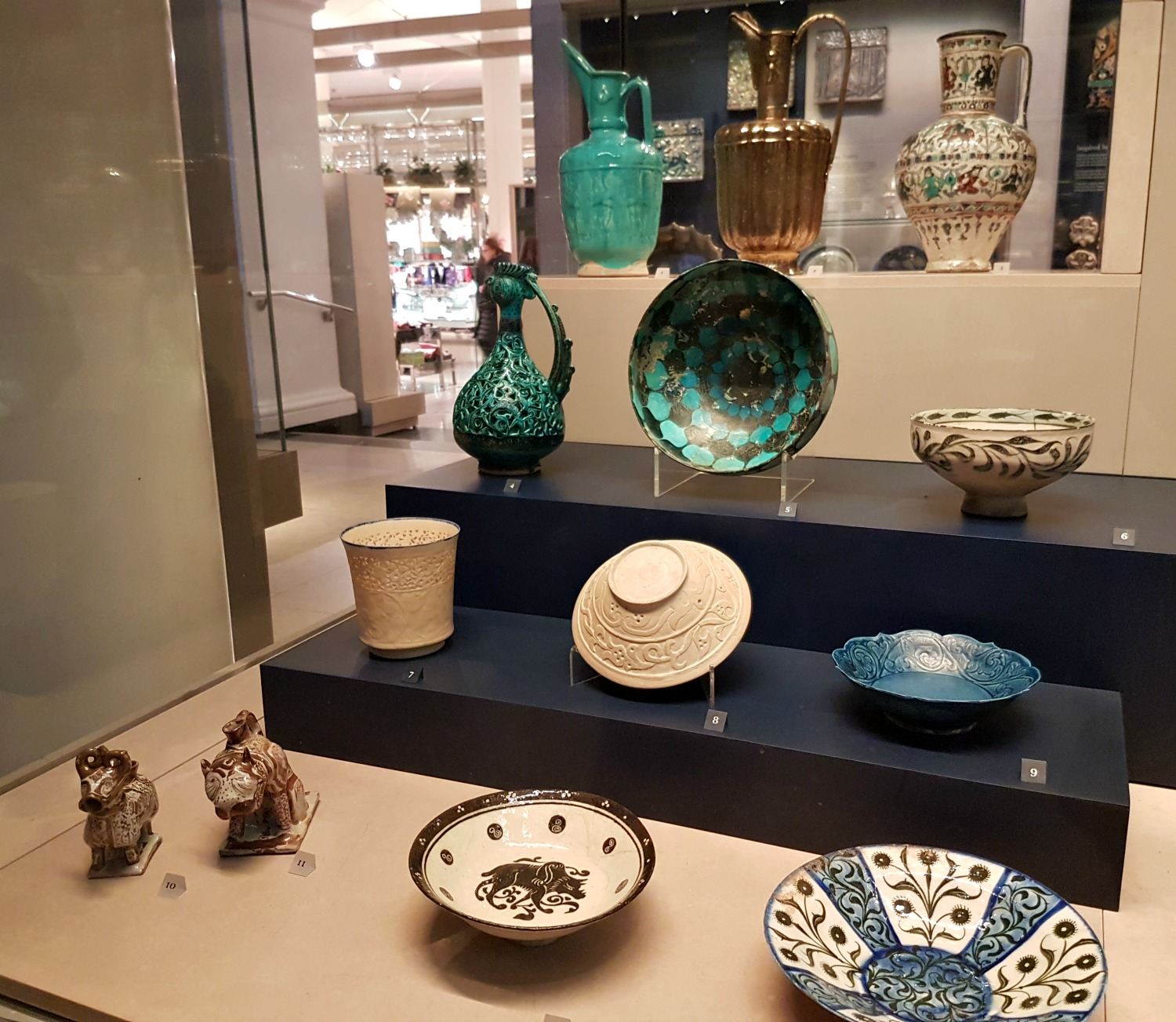 Brightly coloured china in the Asian galleries at the V&A - my review of our visit, and why the Victoria and Albert museum with kids is a great idea