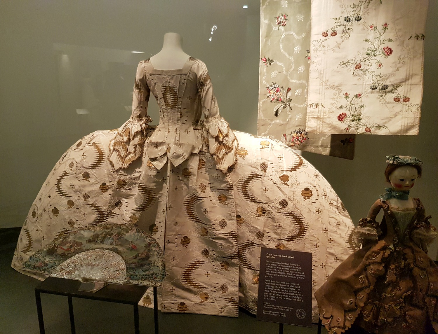 An elaborate court dress in the fashion collection - my review of our visit, and why the Victoria and Albert museum with kids is a great idea