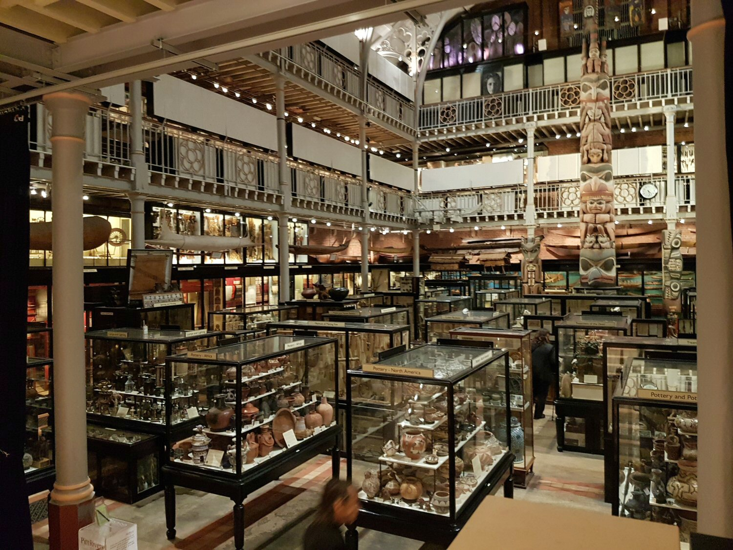 The collections at the Pitt Rivers museum. Our Oxford University natural history museum day out