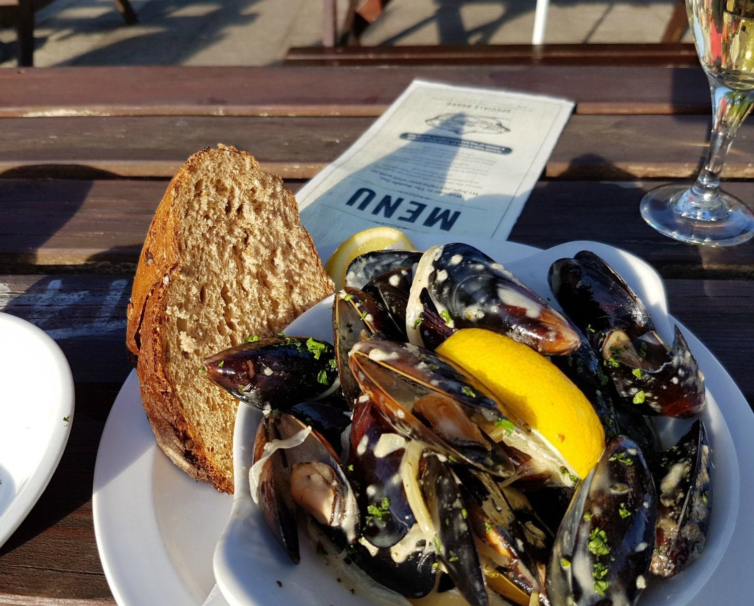 Mussels at The Buddle Inn in Niton, Isle of Wight - near to our accommodation: My St Catherine's Lookout review