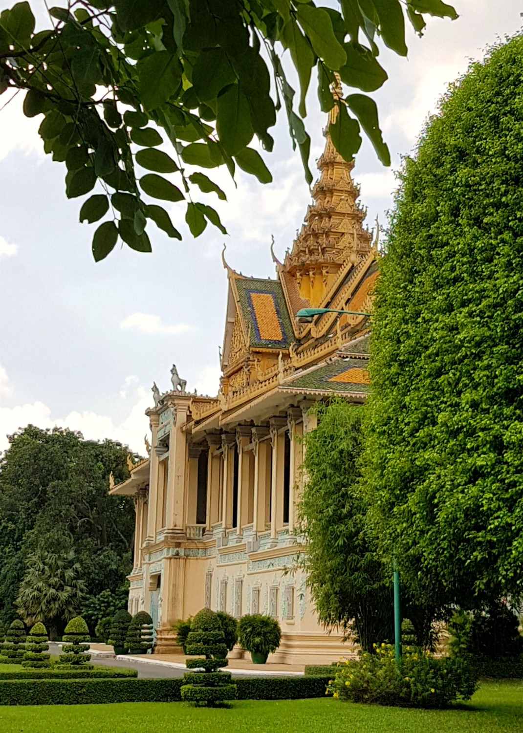 Gold roofed building in the grounds of the royal palace at Phnom Penh - 12 reasons to visit Cambodia with kids