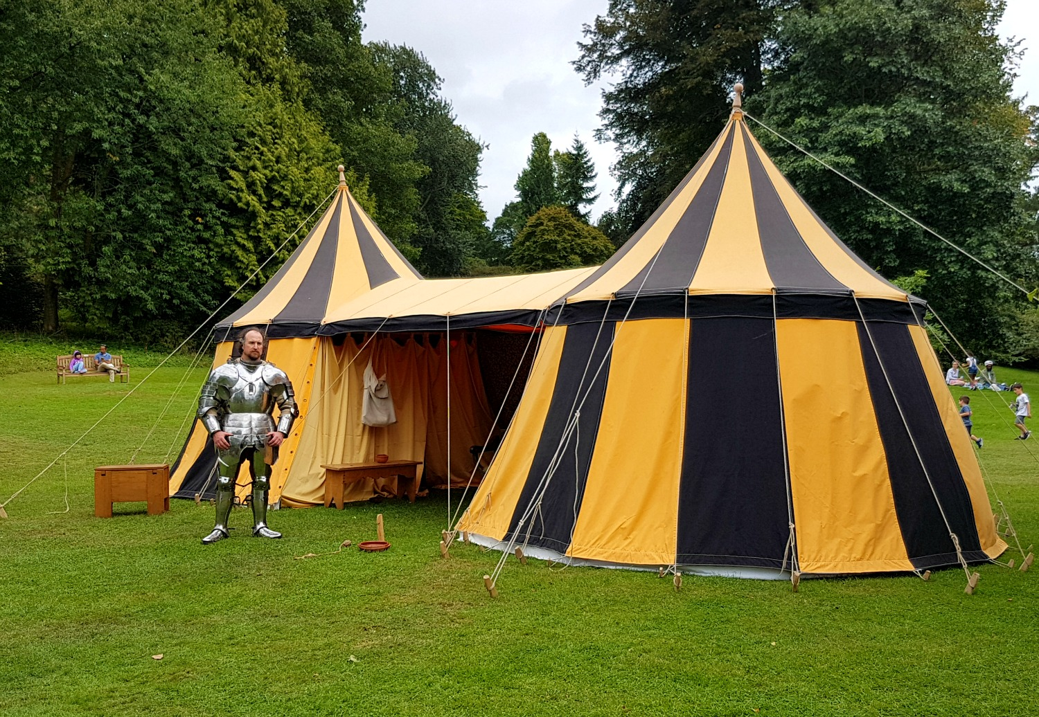 Tents from the medieval village at Hever Castle, Kent - our family day out at Hever Castle with kids