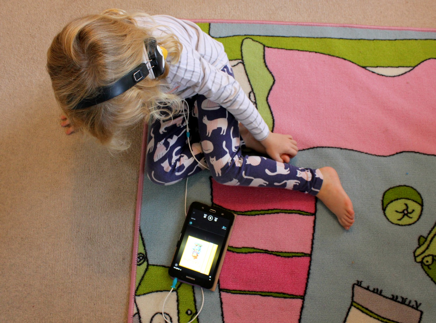 My daughter listens to an audiobook from BookBeat - my BookBeat review and secret weapon for travelling with kids