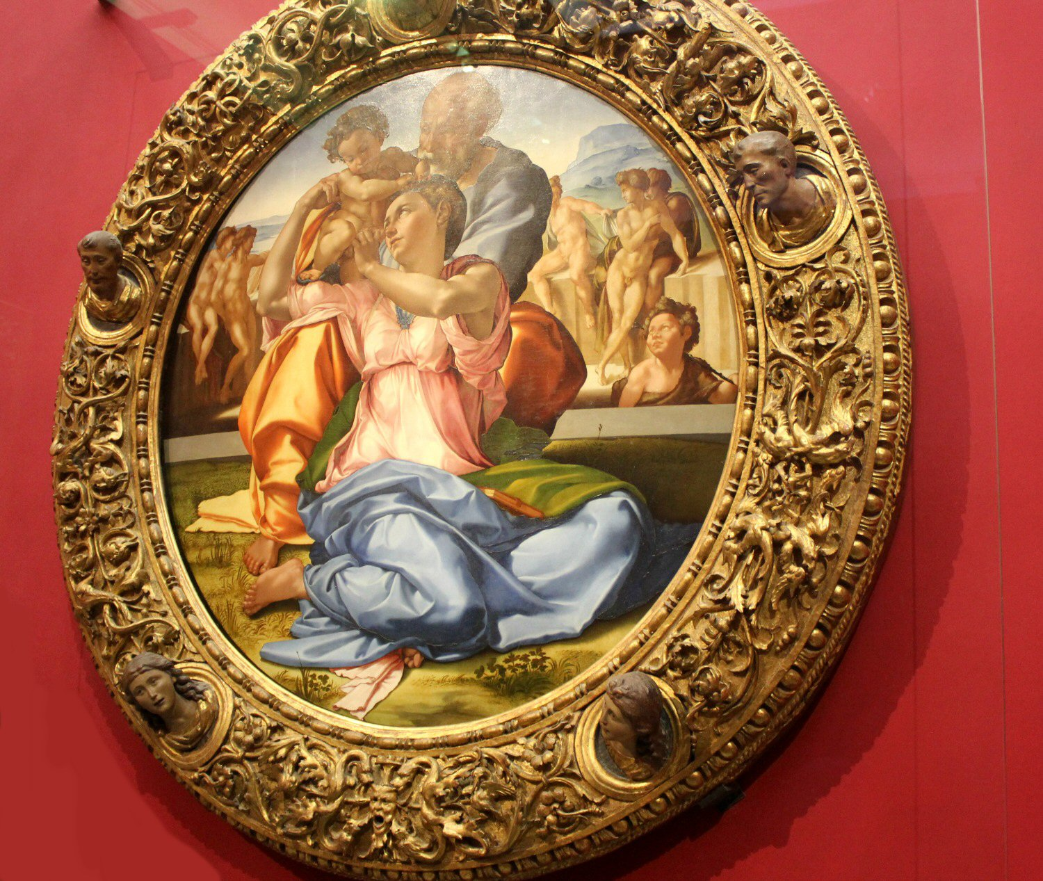 Artwork by Michaelangelo in the Uffizi gallery in Florence, Italy - my Uffizi tour with kids and gelato making day in Florence
