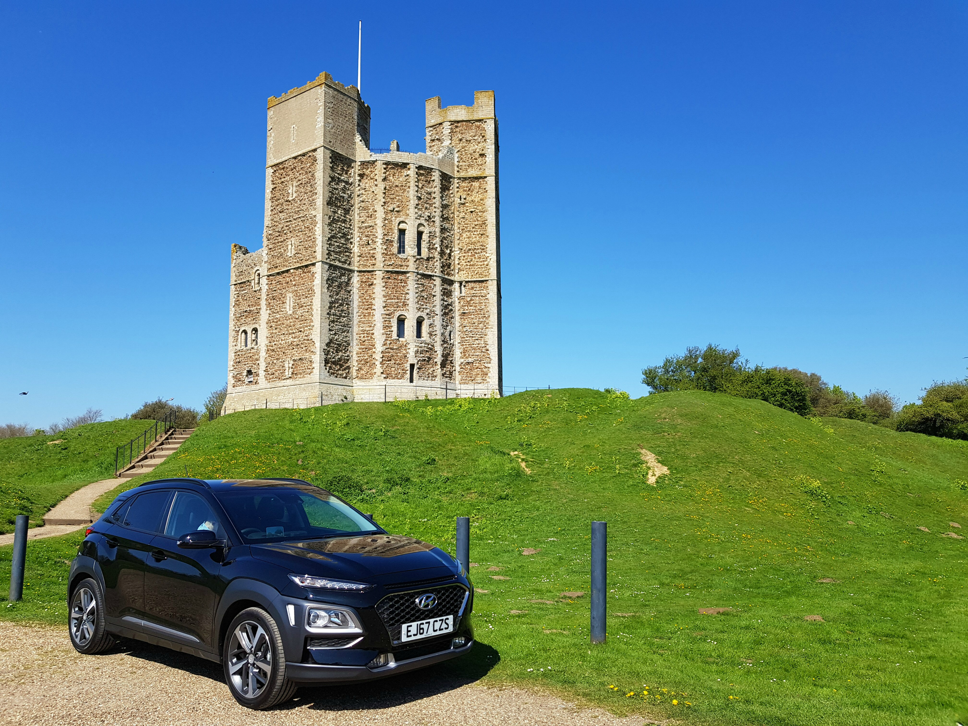 Stopping at Orford Castle in Suffolk on our Hyundai Adventure road trip - part of my essential family travel reading this month