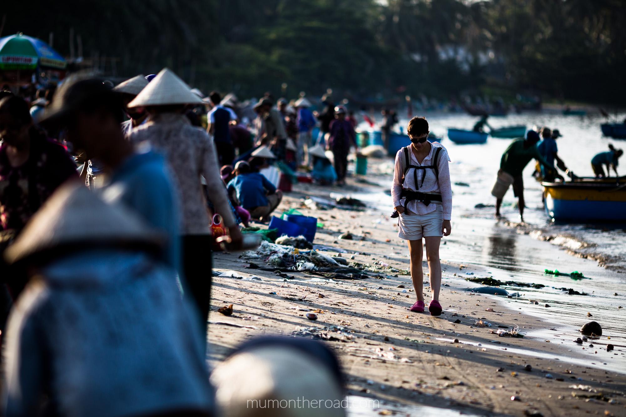 Balade matinale au village de pêcheurs de Mui Ne au Vietnam