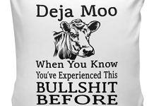Deja Moo Cow Funny Novelty Cushion Cover