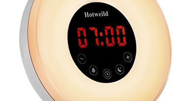 Alarm clock, Hotweild Sunrise & Sunset Simulator USB LED Digital Clock Wake up Light [Luxury Edition] with FM Radio Touch Control 7 Colors and 6 Nature Sounds Night Light Table Lamp