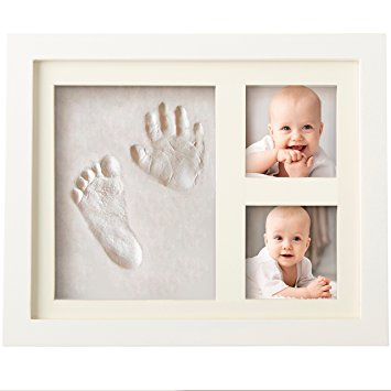 Baby Handprint Kit & Footprint Photo Frame for Newborn Girls and Boys, Baby