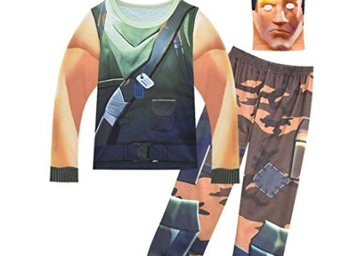 Kids Battle Royale Gamer Characters Cosplay Costume